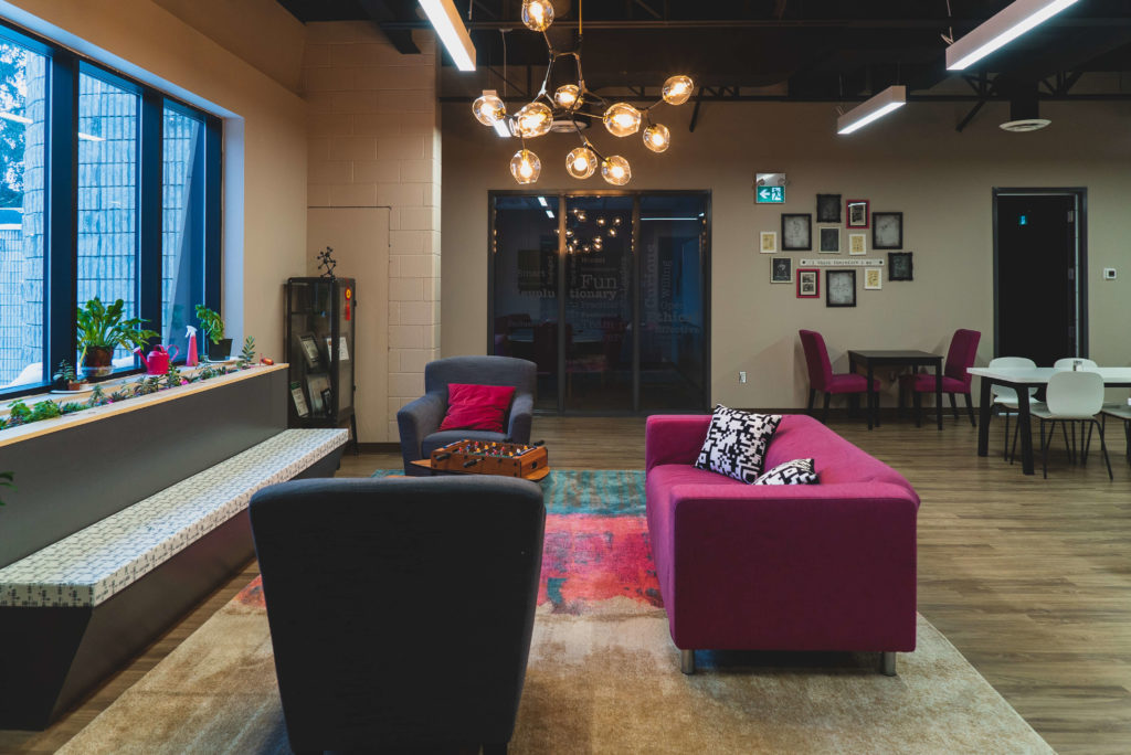 The cosy interior of Enable Education