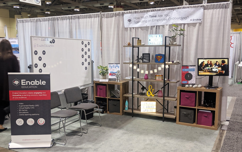 Enable Education booth at 2019 OCE Discovery show