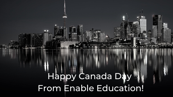 Happy Canada Day from Enable Education