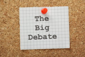 Sticky note - the big debate