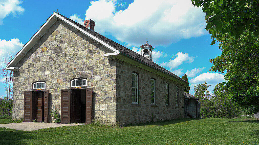 ws exterior of schoolhouse at Country Heritage Park